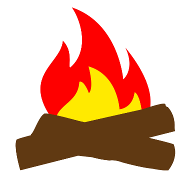 campfire cartoon logo